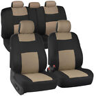 Car Seat Covers For Auto Suv Truck 9pcs Front Rear 6 Colors - Economy Standard
