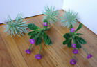 5 Pieces Mini Pine tree and Purple Flower Grasses Artificial Succulents