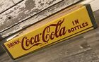 Vintage 1969 Mint NOS Yellow Coke Coca Cola In Bottles Wood Soda Crate
