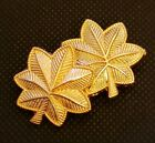 Major Oak Leaf Rank Insignia Metal Gold Finish NEW PAIR