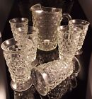 Vintage Colony Indiana Glass Iced Tea Pitcher and 6 Glasses Flare Clear