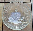 Vintage Anchor Hocking Burble  3 footed Glass Bowl see pictures