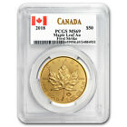 2018 Canada 1 oz Gold Maple Leaf MS-69 PCGS (First Strike) - SKU#161378