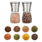 2PCS Stainless Steel Salt and Pepper Mill Grinder Shaker w Clean Brush Kitchen