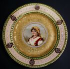 Hand Painted Porcelain Royal Vienna Portrait Plate of Lady -