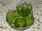 DIP Set Anchor Hocking Bowls Green Glass Party Entertaining