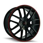 18 Touren 3260 TR60 Wheel Black 18x8 5x110 5x115 +40mm 3260 8811BR