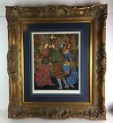 Signed Mystery Artist Masquerade Ball Where is the face of Sister Grace framed