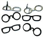 Black EYE GLASS BRADS 2 Shapes Spectacles Scrapbooking Card Making Stamping