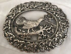 ANTIQUE NORWAY 830S SILVER LARGE RARE BROOCH