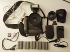 Nikon D90 35mm  50mm Lens Flash Dual Battery Pack 5 Batteries 2 Chargers Bag