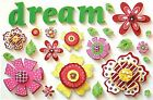 DREAM FOAM STICKERS Spring Flowers Scrapbooking Card Making Stamping
