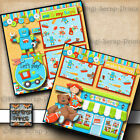 DISNEY TOY STORY MANIA RIDE 2 premade scrapbook pages paper piecing DIGISCRAP