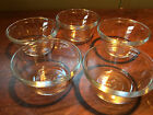 Set - 5 Anchor Hocking Stackable Glass 6oz Custard Cups #1034 Heavy Thick Clear
