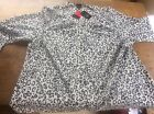 Women's ANN HARVEY Sz 24 Button Up Blouse Top with tags 50%RRP Black White Print