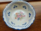 HOMER LAUGHLIN VIRGINIA ROSE blue Rim Scalloped Serving Vegetable Bowl 9 1/2