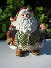 LARGE FITZ AND FLOYD JOLLY OLE ST. NICK COOKIE JAR CENTERPIECE NEW IN BOX