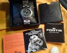 Fortis Official Cosmonauts Automatic Day/Datewith Extra,New ETA 2836-2 Movement