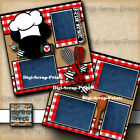 DISNEY CHEF MICKEYS 2 premade scrapbook pages paper piecing layout DIGISCRAP
