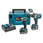 Makita Li-Ion Cordless Combi Drill Impact Driver Brushless LXT Twin Pack Tools