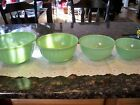 Fire King Jadite 4 Mixing(Nesting) Bowls in Great Condition Swirl Pattern