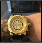 Original Brand Shhors Big Dial Men Casual Silicone Watches Gold Male Wristwatch