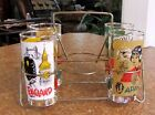 LOT 4 LIBBEY INTERNATIONAL COUNTRIES CITIES OF THE WORLD GLASS TUMBLERS