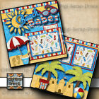 BEACH BABES premade scrapbook pages vacation layout BABY travel DIGISCRAP A0088