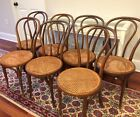 7 ANTIQUE J And J KOHN THONET BENTWOOD BISTRO CAFE Ice Cream PARLOR CHAIRS