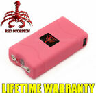 Red Scorpion Pink Mini Stun Gun 800 for Lady 6BV + Rechargeable LED Flashlight