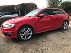 2013 63 AUDI A3 S LINE 20 TDI 5 DOOR IN RED FULL AUDI SERVICE HISTORY