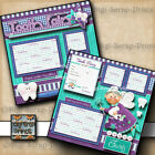 TOOTH FAIRY 2 premade scrapbook pages paper piecing printed layout DIGISCRAP