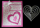 5 STITCHED HEART DIES send LOADS OF LOVE compatible w Sizzix Cuttlebug MACHINES