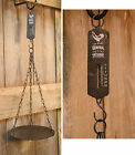 PRIMITIVE COUNTRY METAL HANGING SCALE ROOSTER GERNERAL STORE