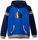 NEW NBA Dallas Mavericks Adidas Pullover Hoodie Sshirt Blue, Youth Medium(10/12)