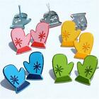 MITTEN BRADS 4 Colors Winter Clothing Mittens Scrapbooking Stamping Card Making