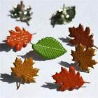 AUTUMN LEAF BRADS 4 colors Trees Leaves Raking Fall Scrapbooking Card Making