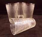 Vintage Drinking Glass Tumblers Jeannette Tree Bark Clear Set of 4