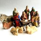 Vintage Nativity Figures 13 Piece Lot West Germany Holy Family Wise Men Animals