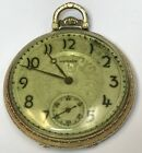 RUNNING ANTIQUE E HOWARD COMPANY 17 JEWEL OPEN FACE POCKET WATCH 1389414