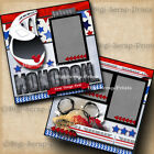 DISNEY MONORAIL 2 premade scrapbook pages paper piecing layout BY DIGISCRAP