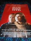 THREE COLORS RED ORIGINAL HUGE FOLDED FRENCH POSTER 1994 KIESLOWSKI JACOB