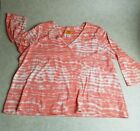 Ruby Red Woman shirt 2x Coral Knit 3 4 length comfy