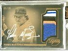 2014 Topps Dynasty PEDRO MARTINEZ 4-Color Patch On-Card Auto (9 10)