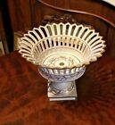 GILT DECORATED PORCELAIN COMPOTE UNUSUAL BLUE MARK