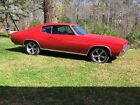 1972 Chevrolet Chevelle 1972 CHEVY CHEVROLET CHEVELLE MUSCLE CAR RED COUPE AC SS HOT ROD SUPER SPORT