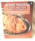 Weight Watchers Quick and Easy Menu Cookbook Paperback Quick Success Program