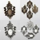 10x Tibetan Silver Christmas Ribbon Photo Picture Frame Charms Pendant Findings
