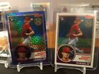 2 2018 Topps 1983 Chrome Silver Pack Parker Bridwell Blue 150 and base Chrome