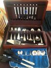 Silver Flutes by Towle Sterling Silver Flatware Set For 8 Service with Box